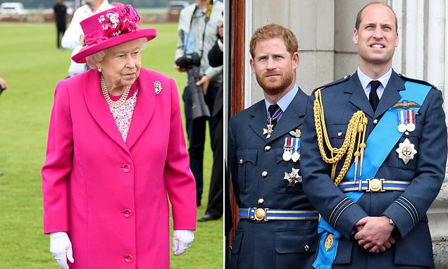 The Queen is not impressed by the 'alleged feud' between grandsons