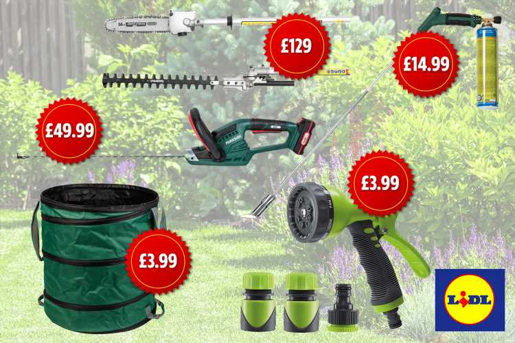 Lidl has launched a range of power tools that are perfect for sorting out the garden