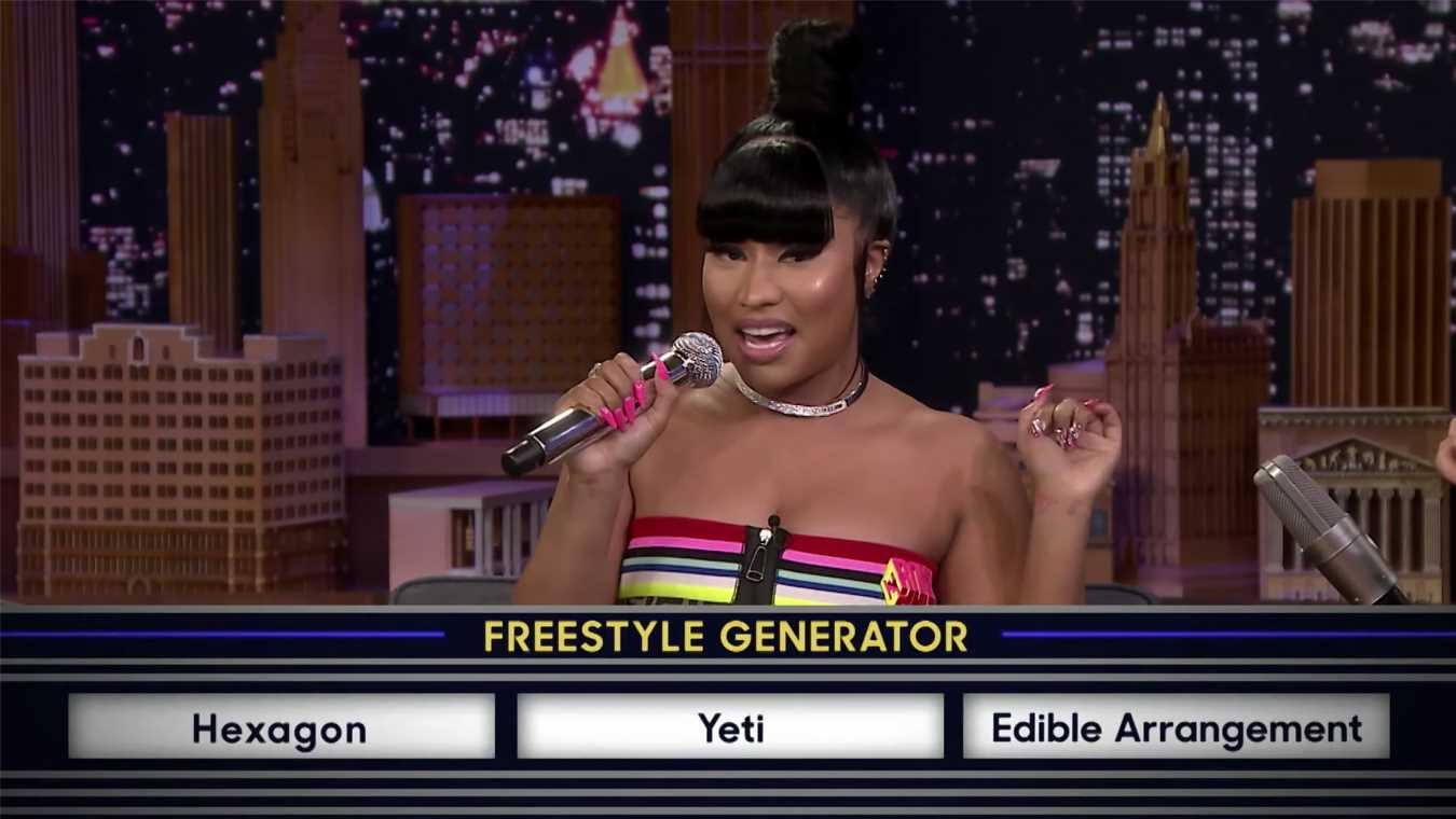 Nicki Minaj Shows Off Her Freestyle Rap Skills, Confirms New Album on 'The Tonight Show'