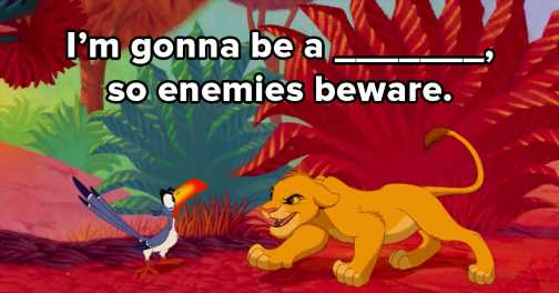 """I Challenge You To Get A Perfect Score On This """"Lion King"""" Lyric Quiz"""