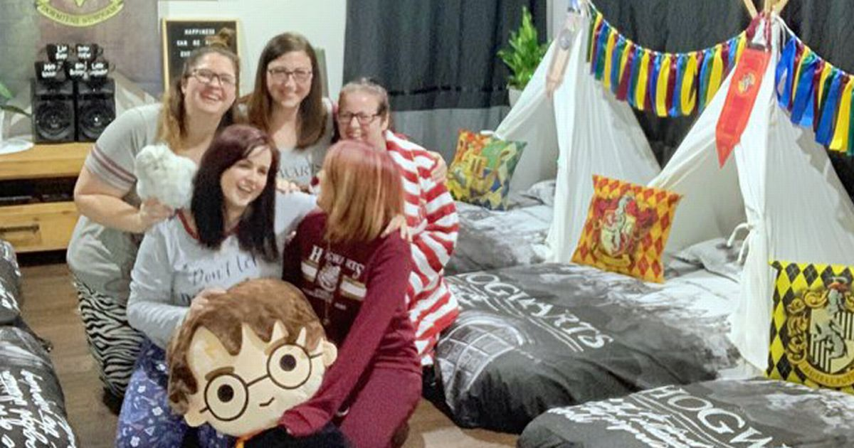 Mum throws 'out of this world' adults-only Harry Potter sleepover for her pals