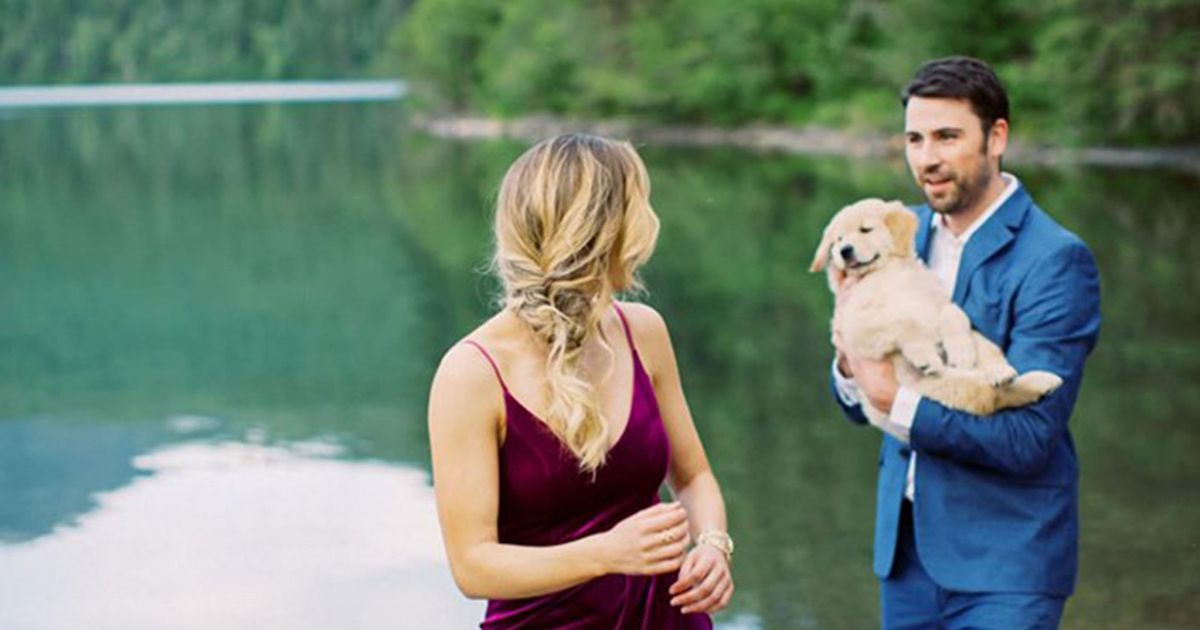 Man pops the question to his girlfriend in the sweetest possible way