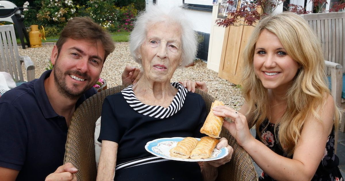 Centenarian who thanks sausage rolls for long life gets surprise Greggs birthday