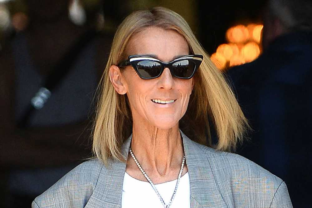 Céline Dion steps out in 'Titanic' Heart of the Ocean necklace