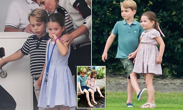 Prince George and Princess Charlotte 'lean on each other'
