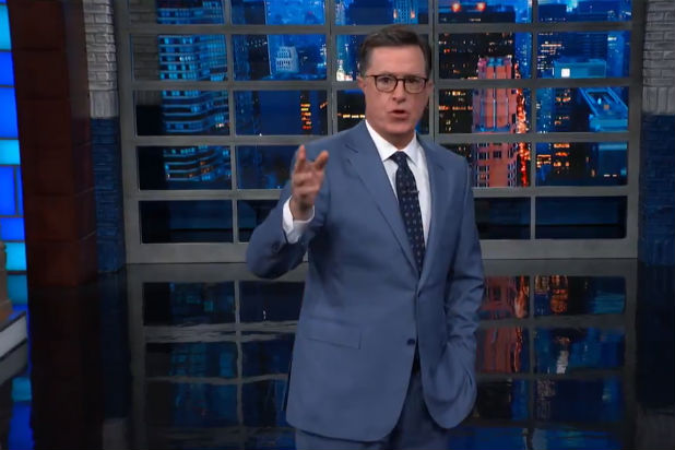Colbert Checks in on Trump After the Democratic Debates (Video)
