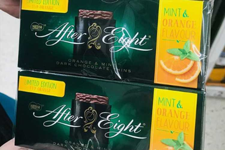 Asda is selling ORANGE flavoured After Eights and they'd be great for Christmas