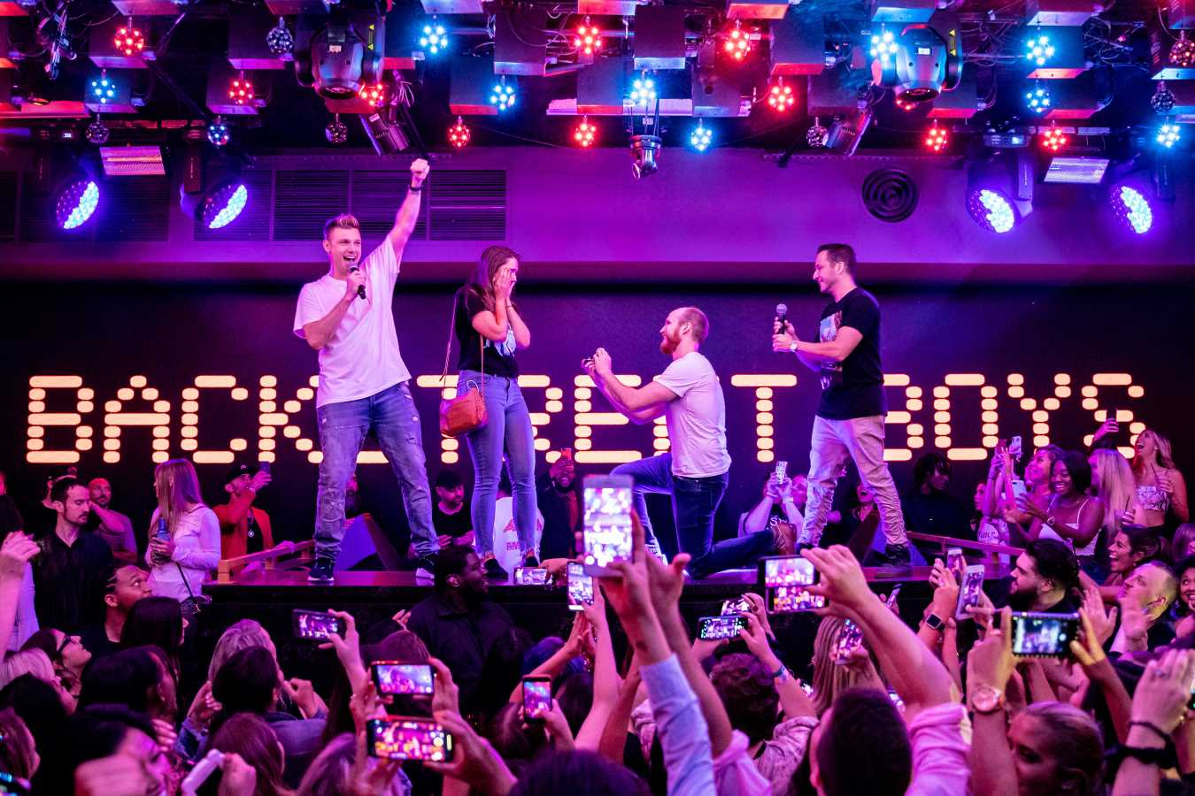 The Backstreet Boys' Nick Carter and Howie Dorough Help a Fan Propose on Top of a DJ Booth