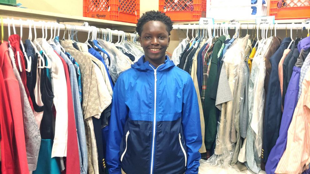 13-year-old creates school closet so classmates will have nice clothes to wear