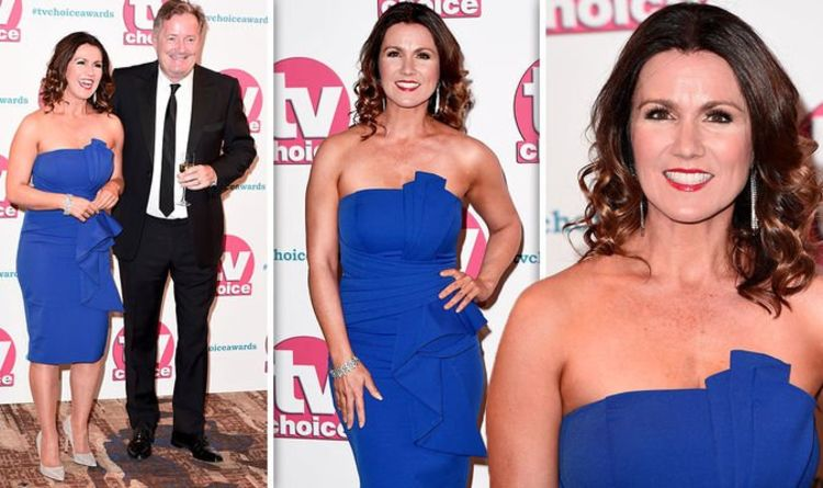 Susanna Reid stuns in sexy strapless dress as she joins Piers Morgan at TV Choice Awards