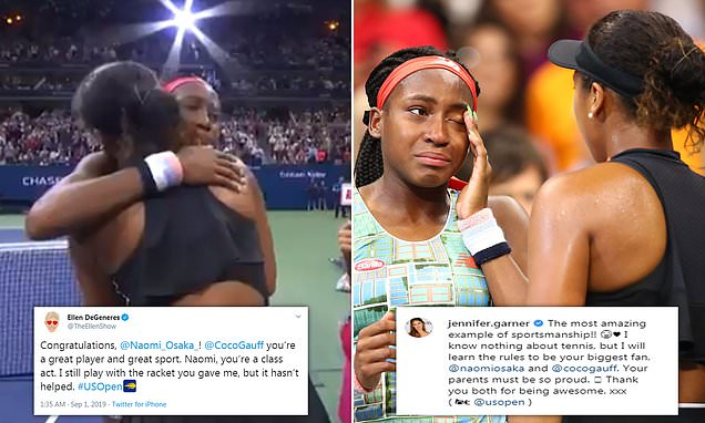 Tennis star Naomi Osaka praised for inviting Coco Gauff to interview