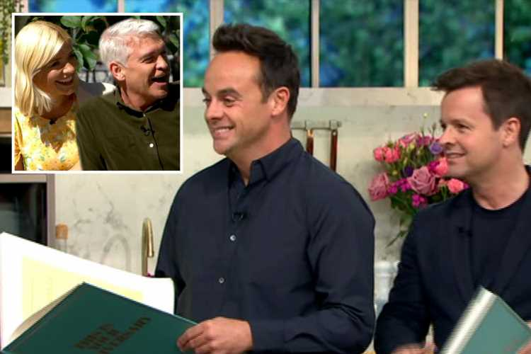 Ant and Dec gatecrash This Morning and steal show from stunned Holly Willoughby and Phillip Schofield on their 10th anniversary as hosts