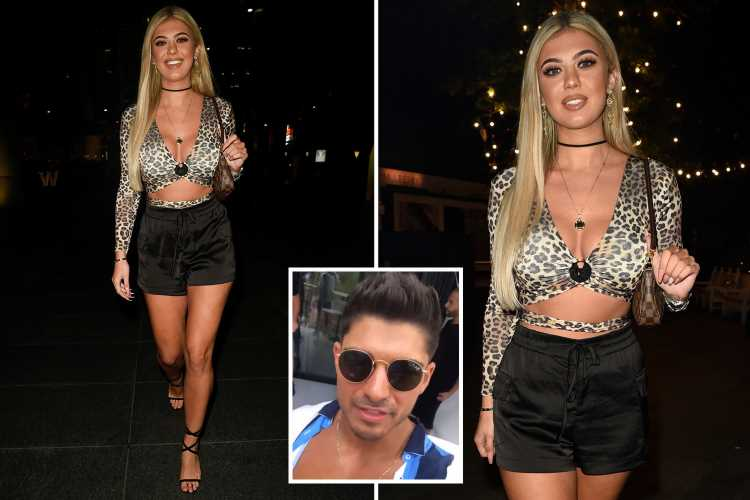 Love Island's Belle Hassan looks incredible in a plunging leopard print crop top as she parties on ex Anton's birthday