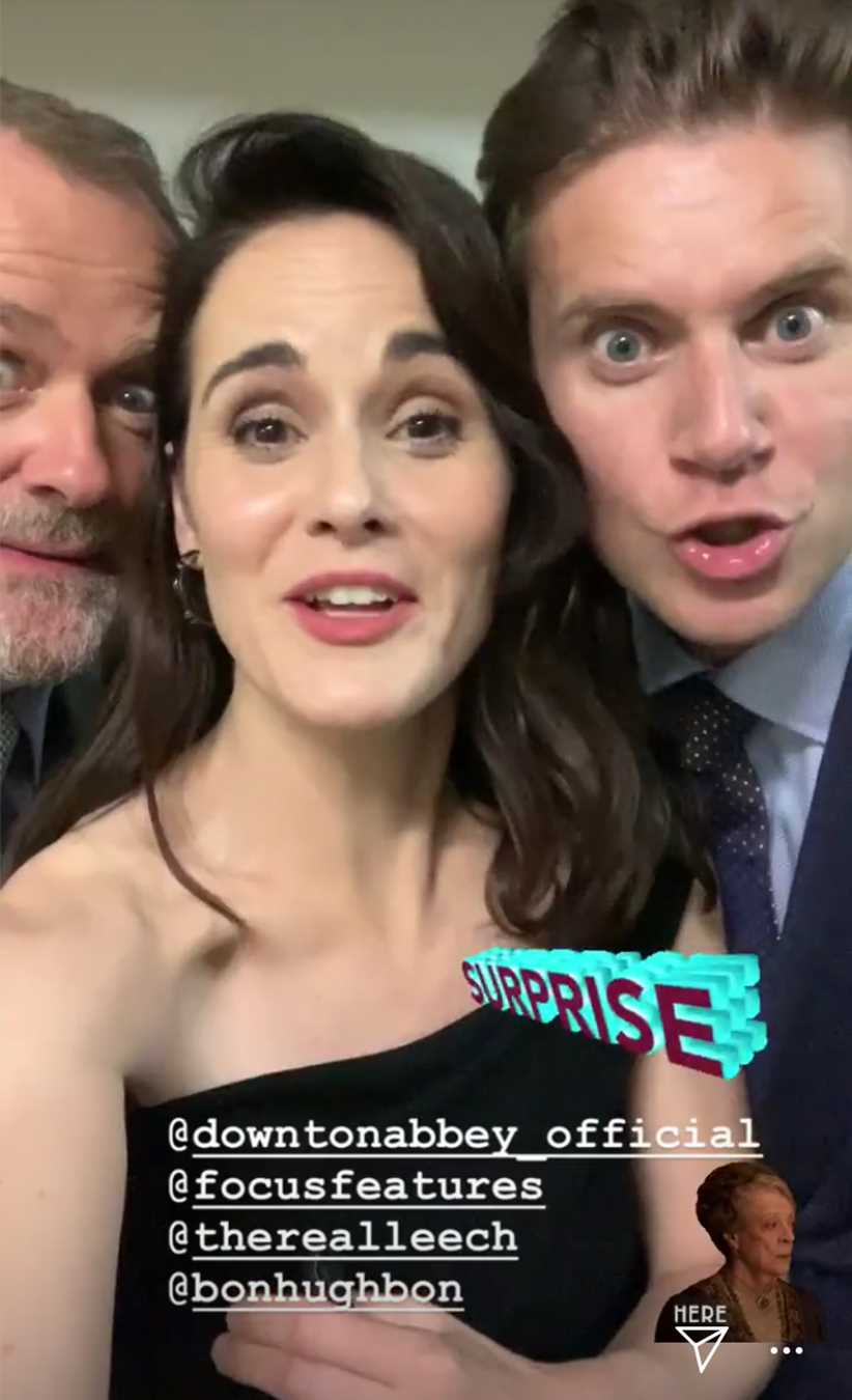 Downton Abbey Cast Surprises Fans at Movie's Opening Night in Los Angeles: 'Don't Tell Them!'
