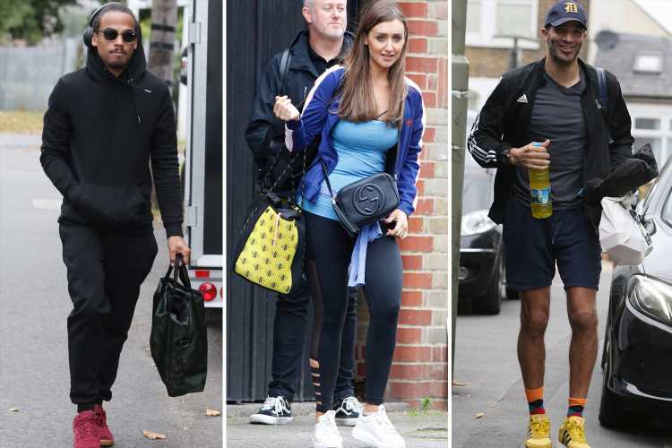 Strictly stars are all smiles as they arrive at rehearsals ready to start gruelling training ahead of live shows