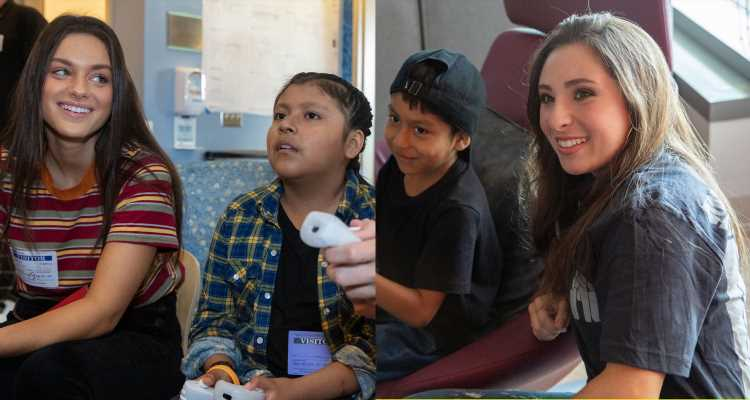 Odeya Rush & Ava Cantrell Play With Patients at Starlight & UCLA Children's Hospital Event