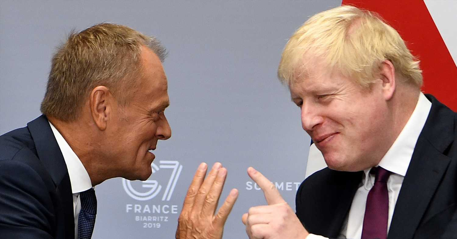 """Boris Johnson Told Donald Tusk At The G7 That The UK Would Provide Brexit Proposals """"Next Week."""" It Didn't."""