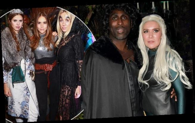 Sol Campbell and wife Fiona at Annabel's '£1.2MILLION' Halloween bash
