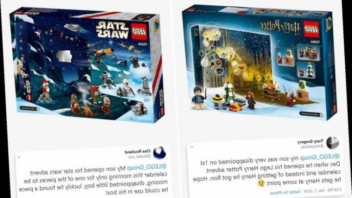LEGO shoppers disappointed at £25 Harry Potter and Star Wars advent calendars missing pieces