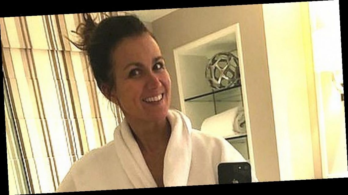 GMB babe Susanna Reid strips off as robe gapes open to flaunt killer curves