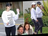Pregnant Katherine Schwarzenegger and her mom don matching body positive sweaters on hike – The Sun