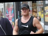 EastEnders star Jake Wood flashes impressive biceps as he goes out for a run after return to filming