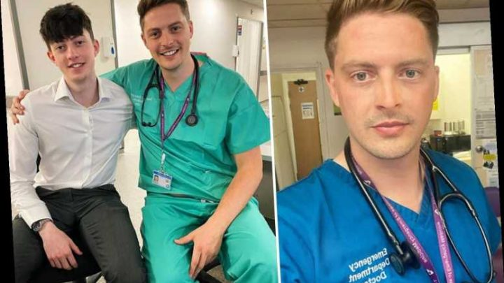 Dr Alex George returns to work at A&E three weeks after his tragic brother's suicide