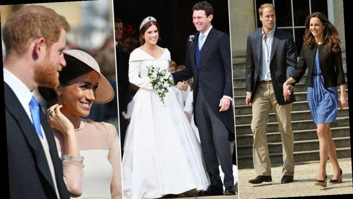 Royal couples' first public appearances after their weddings, including Meghan Markle, Princess Eugenie and more