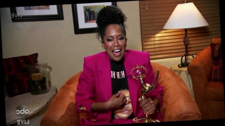 Regina King Wins Emmy For 'Watchmen' While Wearing Shirt Honoring Breonna Taylor