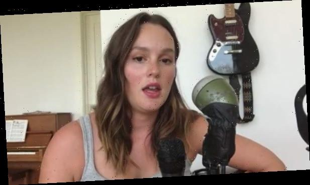 Leighton Meester Sings 'Edelweiss' & Asks Fans to Join Her in Voting Out Trump (Video)
