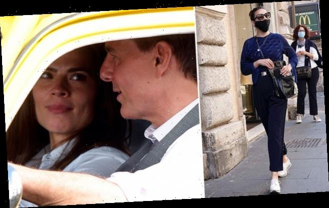 TALK OF THE TOWN: Hayley Atwell causes a stir walking through Rome