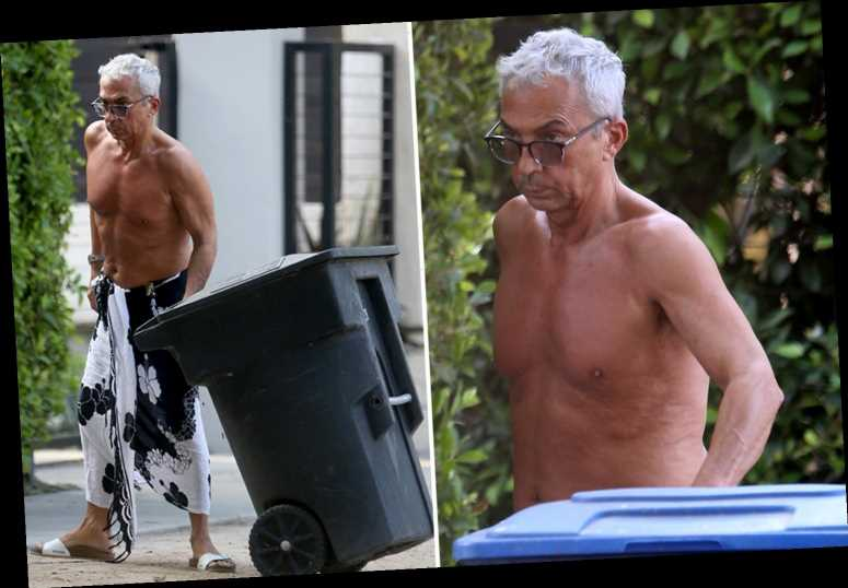 Strictly judge Bruno Tonioli looks great aged 64 as he takes the bins out in LA as the show starts without him