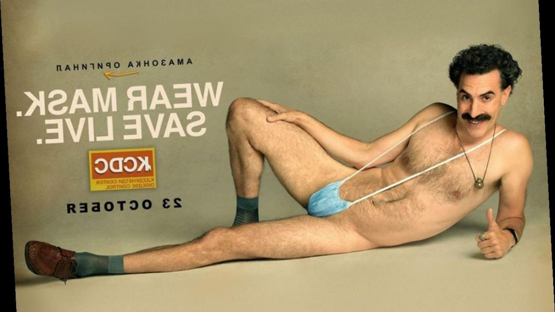 Sacha Baron Cohen Turns Covid Mask Into Mankini In Outrageous Borat 2 Poster With Film Dropping This Month Big Star Site