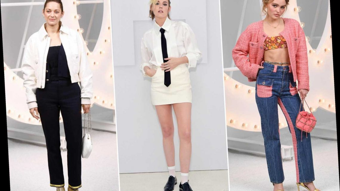 Can you guess which celebrities were actually at the Chanel show?
