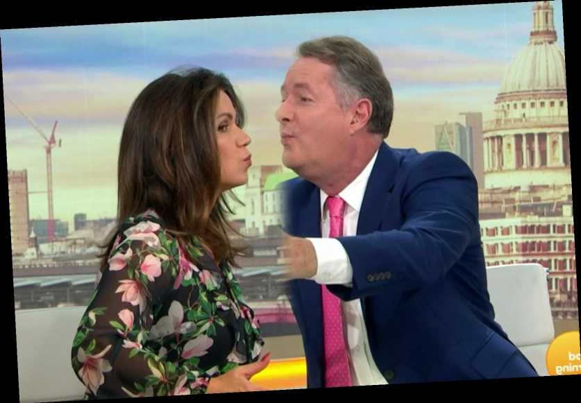 Piers Morgan and Susanna Reid 'kiss' on Good Morning Britain – but all is not as it seems