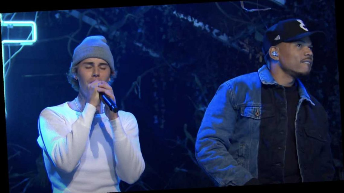 See Justin Bieber Bring Out Chance the Rapper for 'Holy' on 'SNL'