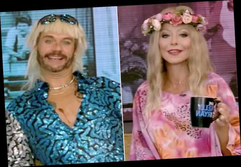 Kelly Ripa and Ryan Seacrest Pay Homage to Tiger King, Schitt's Creek & More for Halloween