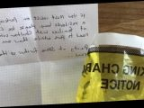 Mum finds passive aggressive parking note on her car with 'yellow fine' bag
