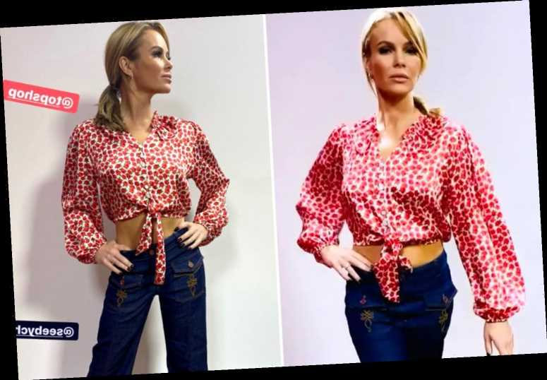 Amanda Holden shows off toned stomach in floral crop top for cowgirl-inspired look