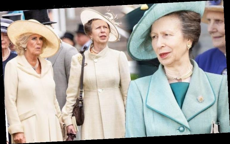 Princess Anne 'frosty' body language is very different with 'tense' Camilla Parker Bowles