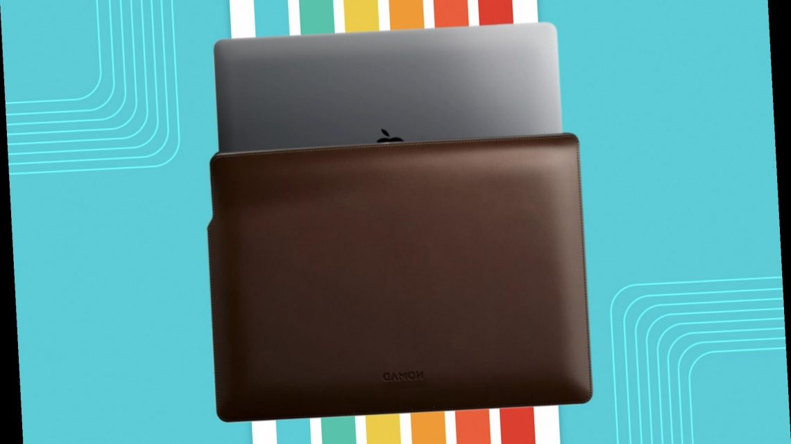 This leather laptop sleeve is the perfect last-minute luxury gift for any MacBook owner