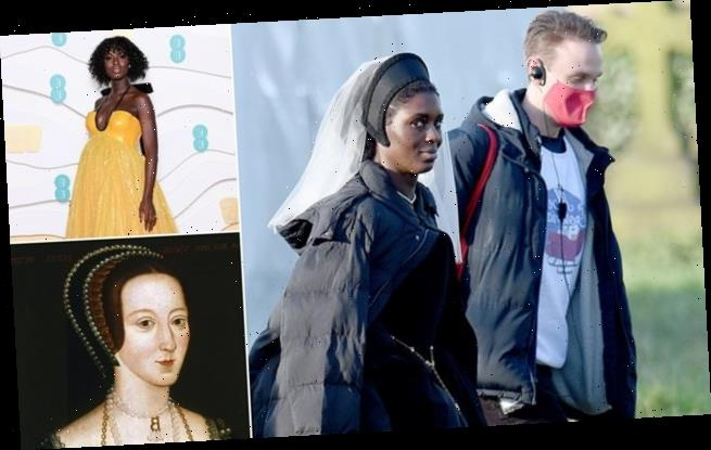 Jodie Turner-Smith is seen as Anne Boleyn for first time in drama
