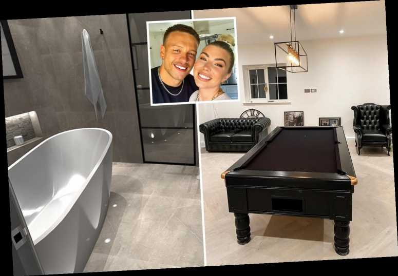 Love Island winners Alex and Olivia reveal incredible house transformation with all-black pool table & freestanding bath
