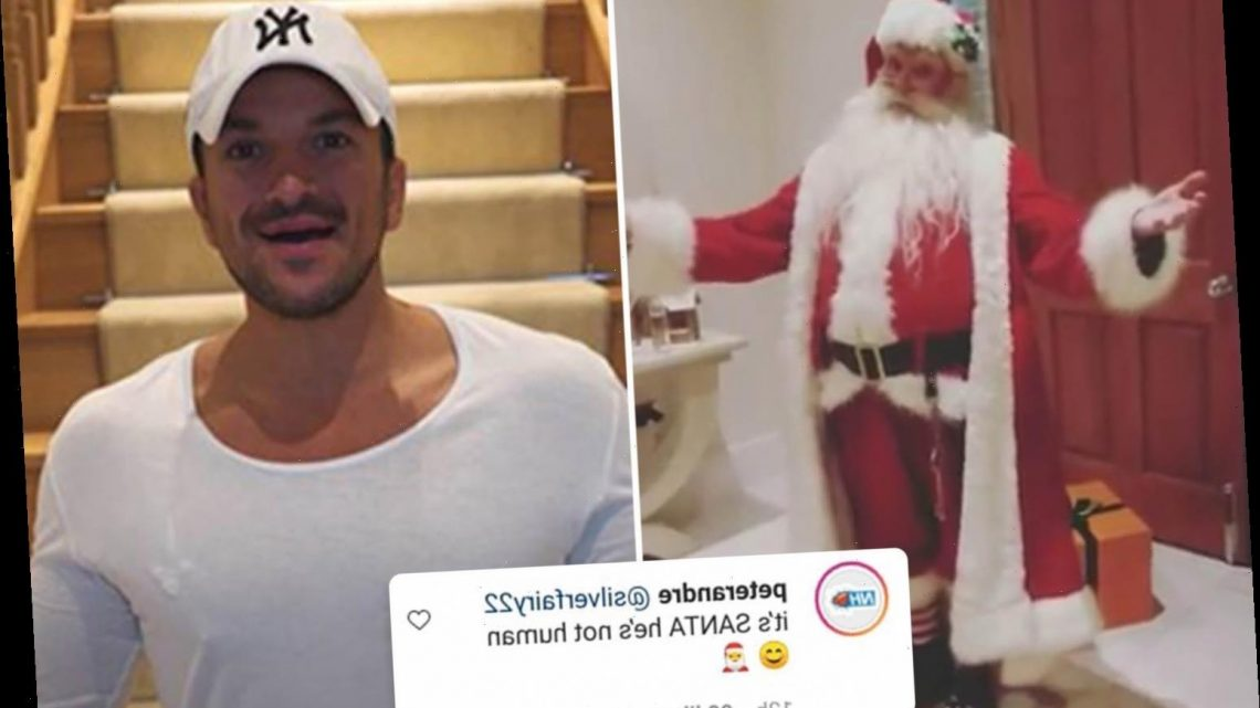 Peter Andre insists he didn't break social distancing rules with Father Christmas in his home as Santa 'is not human'