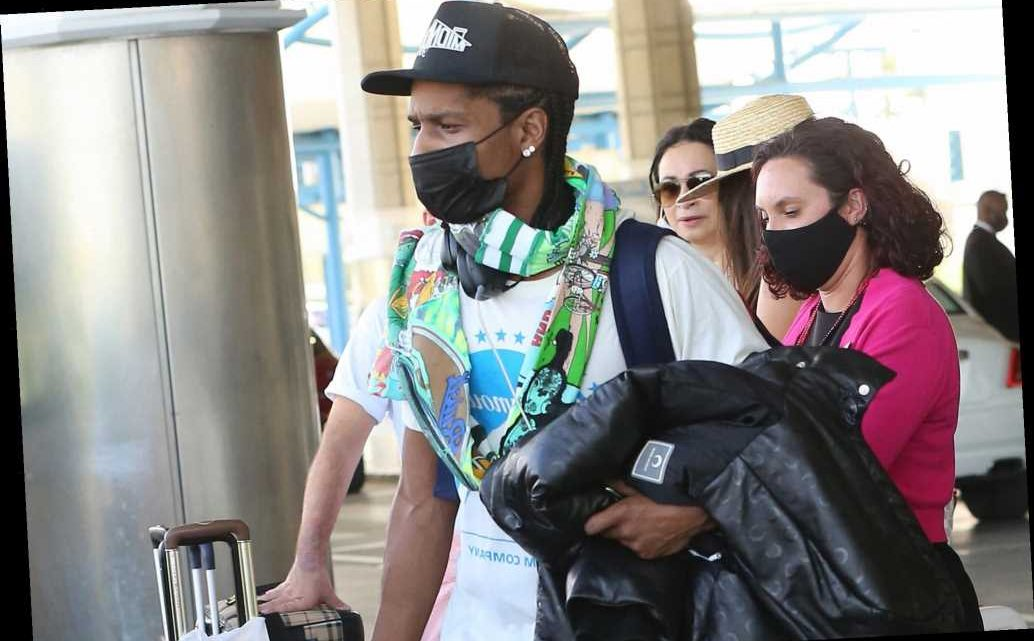 A$AP Rocky arrives in Rihanna's native Barbados for the holidays