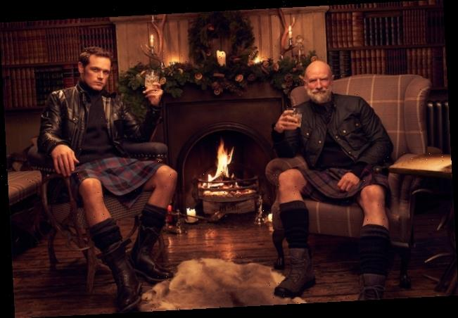Outlander's Sam Heughan and Graham McTavish Want to Warm You Up With Men in Kilts Yule Log — Watch
