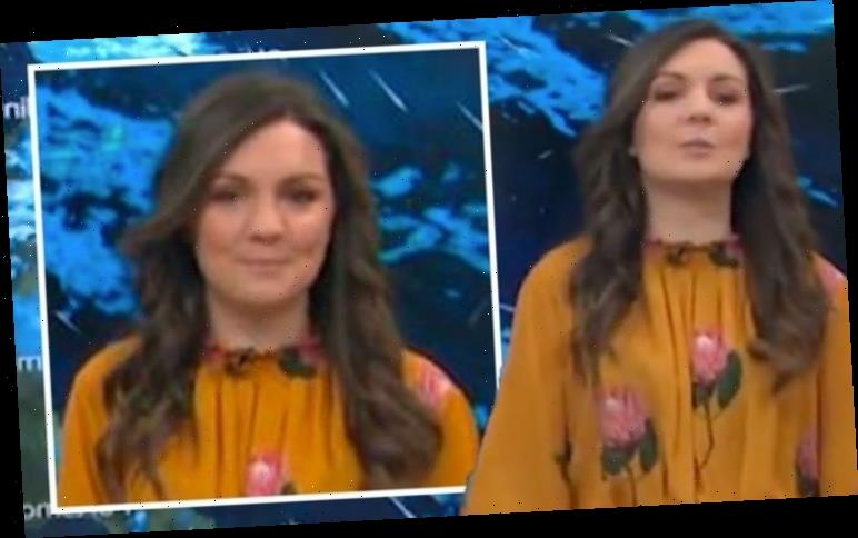 GMB's Laura Tobin corrects herself after suffering unfortunate weather blunder