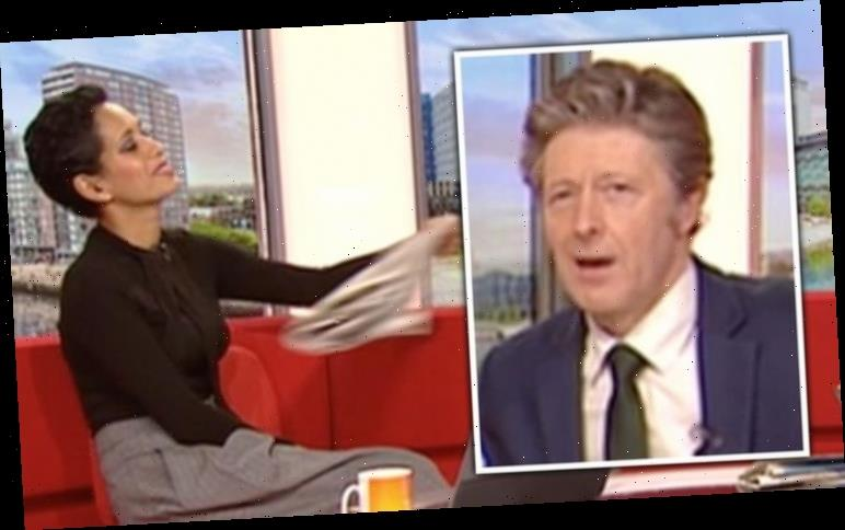 Naga Munchetty throws papers at Charlie Stayt after BBC Breakfast blunder 'Move on'