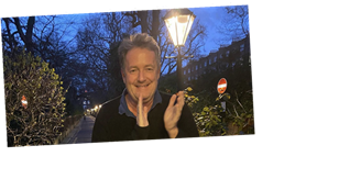 Piers Morgan's home: Inside the Good Morning Britain host's cosy London townhouse as he shares peek on Zoom