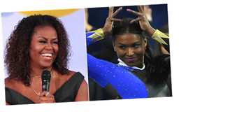 Michelle Obama Gives Special Shout-Out To 'Fierce' UCLA Gymnast Nia Dennis
